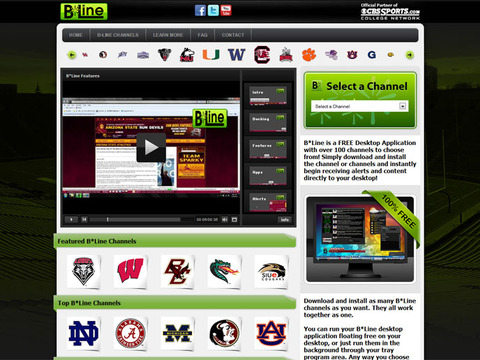 BLineApps.com for CBS College Sports