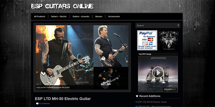 ESP Guitars Online Site Launch